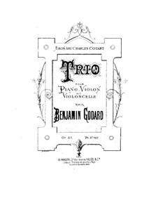 Фортепианное трио No.1 соль минор, Op.32: Партитура by Бенжамин Годар