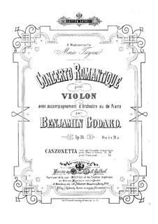 Романтический концерт для скрипки с оркестром, Op.35: Для скрипки и фортепиано – партитура, сольная партия by Бенжамин Годар