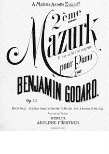 Мазурка No.2 си-бемоль мажор, Op.54: Аранжировка для фортепиано в 4 руки – партии by Бенжамин Годар