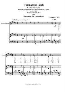 Fermarono i cieli: For mezzo-soprano and piano, CS155c by Santino Cara