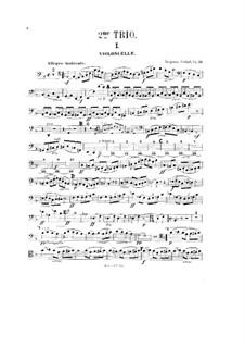 Фортепианное трио No.2 фа мажор, Op.72: Партия виолончели by Бенжамин Годар