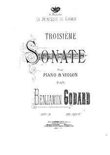 Соната для скрипки и фортепиано No.3, Op.9: Партитура by Бенжамин Годар