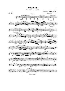 Соната для скрипки и фортепиано No.3, Op.9: Сольная партия by Бенжамин Годар