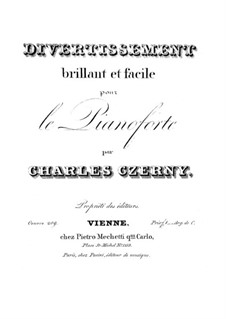 Divertissement Brillant et Facile, Op.209: Divertissement Brillant et Facile by Карл Черни