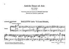 Античные танцы и арии для лютни. Сюита No.1: Версия для фортепиано в 4 руки by Отторино Респиги