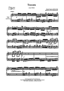 Toccata in g minor senza Pedale par René Vierne: Toccata in g minor senza Pedale par René Vierne by René Vierne