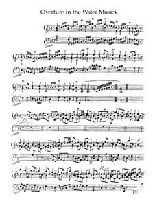 Увертюра, HWV 335b: Для фортепиано by Георг Фридрих Гендель
