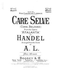 Аталанта, HWV 35: Care Selve, for Voice and Piano by Георг Фридрих Гендель
