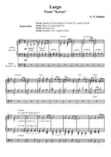 Ларго: Для органа by Георг Фридрих Гендель