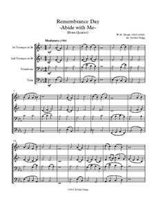 Пребудь со мной: Для квартета медных духовых by Уильям Генри Монк