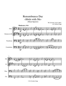 Пребудь со мной: For mixed quartet by Уильям Генри Монк