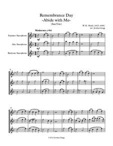 Пребудь со мной: Для трех саксофонов by Уильям Генри Монк