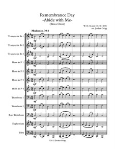 Пребудь со мной: For brass choir by Уильям Генри Монк