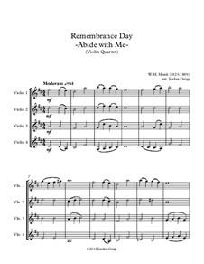Пребудь со мной: Для четырех скрипок by Уильям Генри Монк