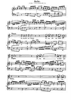 Uns ist ein Kind geboren, BWV 142: Aria, for tenor and piano by Иоганн Себастьян Бах