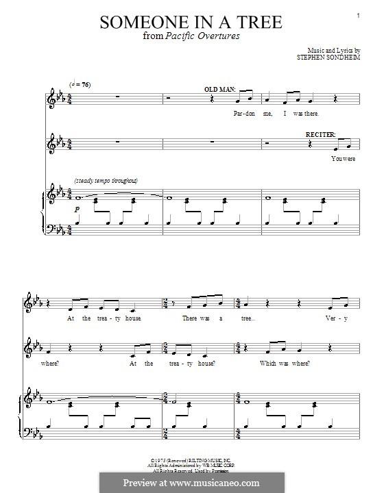 Someone in a Tree: Для голоса и фортепиано by Stephen Sondheim
