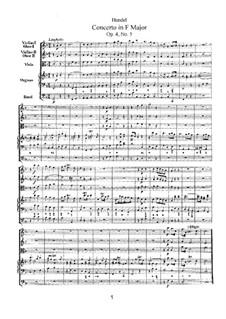 Концерт No.5 фа мажор, HWV 293: Концерт No.5 фа мажор by Георг Фридрих Гендель