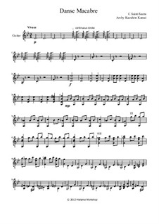 Пляска смерти, Op.40: Для классической гитары by Камиль Сен-Санс