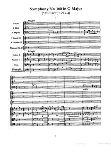 Симфония No.100 соль мажор 'Военная', Hob.I/100: Часть I by Йозеф Гайдн