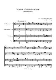 National Anthem of Russian Federation (Gimn Rossiyskoy Federatsii): Для квартета медных духовых by Alexander Vasilyevich Alexandrov