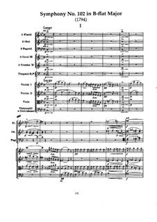 Симфония No.102 си-бемоль мажор, Hob.I/102: Часть I by Йозеф Гайдн