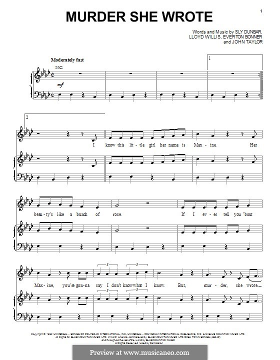 Murder She Wrote: Для голоса и фортепиано (или гитары) by Chaka Demus, Pliers, Lloyd Willis, Sly Dunbar