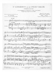 Концерт для скрипки с оркестром No.1 до мажор, Hob.VIIa/1: Версия для скрипки и фортепиано by Йозеф Гайдн