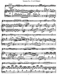 Соната No.2 ре мажор: Партитура, сольная партия by Йозеф Гайдн
