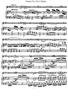 Соната No.4 ля мажор: Партитура, сольная партия by Йозеф Гайдн