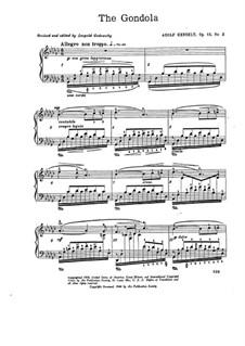 Десять пьес для фортепиано, Op.13: No.2 Гондола by Адольф фон Хенсельт