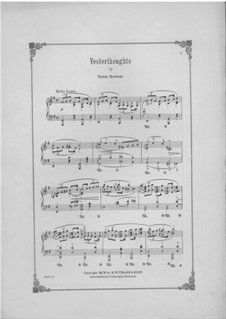 Yesterthoughts, Op.37: Yesterthoughts by Виктор Герберт