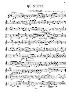 Квинтет для фортепиано и духовых, Op.43: Партия кларнета by Генрих фон Герцогенберг