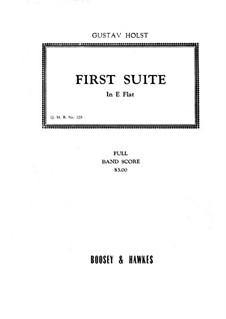 Две сюиты для военного оркестра, Op.28: Сюита No.1 – партитура by Густав Холст