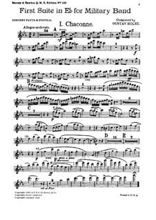 Две сюиты для военного оркестра, Op.28: Сюита No.1 – партии by Густав Холст