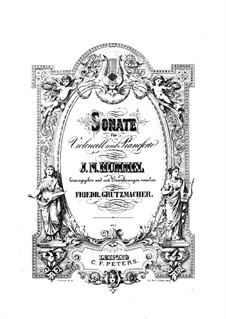 Соната для виолончели и фортепиано ля мажор, Op.104: Партитура by Иоганн Непомук Гуммель