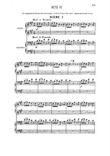 Прозерпина: Акт III, для солистов, хора и фортепиано by Камиль Сен-Санс