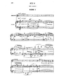 Прозерпина: Акт IV, для солистов, хора и фортепиано by Камиль Сен-Санс