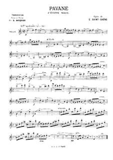 Этьен Марсель: Павана, для скрипки и фортепиано – Партия скрипки by Камиль Сен-Санс