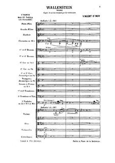 Wallenstein, Op.12: No.2 Les piccolomini by Венсан д' Энди