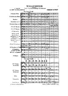 Wallenstein, Op.12: No.3 La mort de Wallenstein by Венсан д' Энди