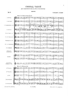 Choral varié for Saxophone and Orchestra, Op.55: Партитура by Венсан д' Энди