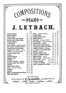 Nocturne No.4 in B Major 'Mes solitudes', Op.36: Для фортепиано by Жозеф Лейбах