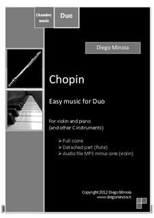 Chopin: Duo pack. For piano and violin (or other C instruments) by Diego Minoia