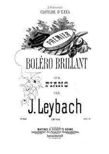 Блестящее болеро No.1, Op.64: Для фортепиано by Жозеф Лейбах