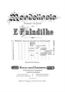 Fantasia on Melody 'Mandolinata' by E. Paladilhe, Op.130: Для фортепиано в 4 руки by Жозеф Лейбах