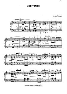 Размышление: Для фортепиано by Жозеф Лейбах