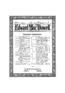 Две пьесы, Op.18: No.1 Баркарола by Эдвард Макдоуэлл