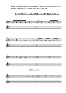 Grouping Exercises: Worksheet No.5: Compound Time by Yvonne Johnson