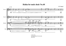 Haiku No.40 for male choir, MVWV 461: Haiku No.40 for male choir by Maurice Verheul