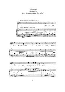 Automne: Клавир с вокальной партией by Жюль Массне